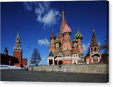 Canvas Print - Saint Basils Cathedral On The Red Square by Alex Sukonkin
