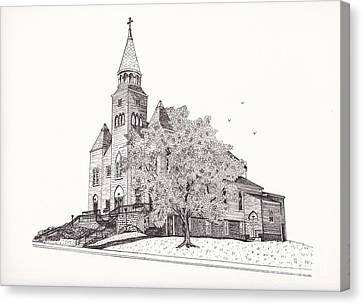 Saint Bridget Church Canvas Print