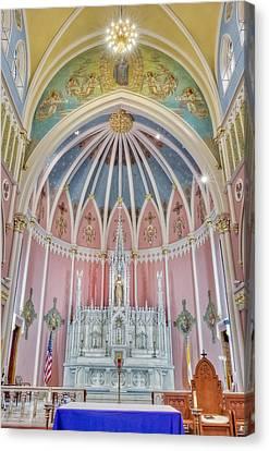 Saint Bridgets Altar Canvas Print by Susan Candelario