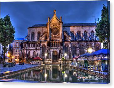 Saint Catherine Church. Brussels Canvas Print