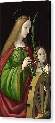 Saint Catherine Of Alexandria Canvas Print by Antonio Solario