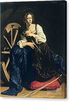 Saint Catherine Of Alexandria Canvas Print by Pg Reproductions