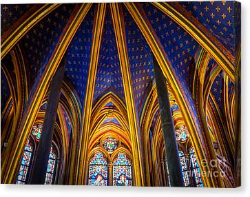 Saint Chapelle Ceiling Canvas Print by Inge Johnsson