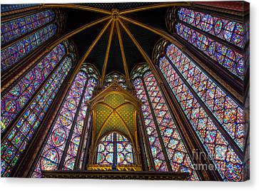 Saint Chapelle Windows Canvas Print by Inge Johnsson