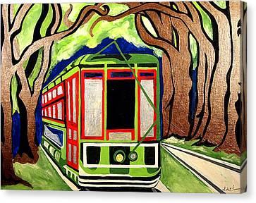 Saint Charles Streetcar Canvas Print by Katie Farmer