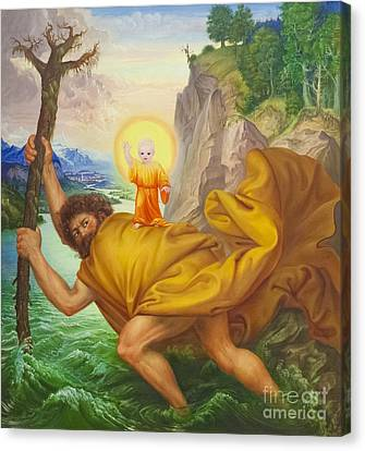 Saint Christopher By Otto Dix Canvas Print by Roberto Morgenthaler
