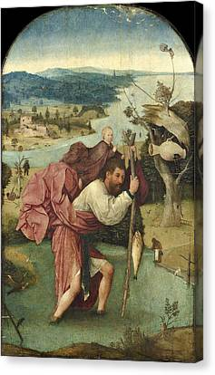 Saint Christopher Canvas Print by Hieronymus Bosch