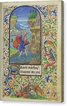Saint Christopher Lieven Van Lathem, Flemish, About 1430 - Canvas Print by Litz Collection