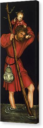 Saint Christopher Canvas Print by Lucas Cranach the Elder
