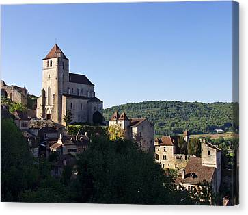 Saint Cirq La Popie France Lot Region Canvas Print by Mathew Lodge