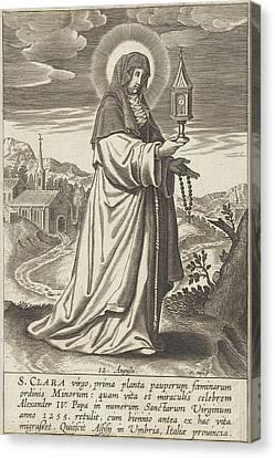 Saint Clare, Print Maker Michael Snijders Canvas Print by Michael Snijders