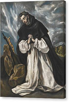 Saint Dominic In Prayer Canvas Print