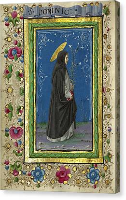 Saint Dominic Canvas Print - Saint Dominic Taddeo Crivelli, Italian, Died About 1479 by Litz Collection