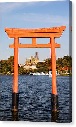Torii Canvas Print - Saint-etienne Cathedral Viewed by Panoramic Images