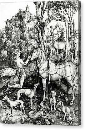 Saint Eustace Canvas Print by Albrecht Durer or Duerer