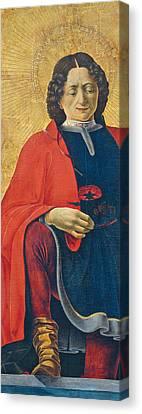 Saint Florian Canvas Print by Francesco del Cossa