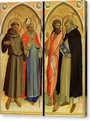 Saint Dominic Canvas Print - Saint Francis And A Bishop Saint, Saint John The Baptist by Litz Collection