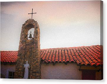 Saint Francis Blessing Canvas Print by Scott Campbell