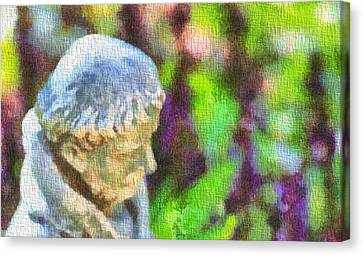 Saint Francis Of Assisi In The Garden Canvas Print by Dan Sproul
