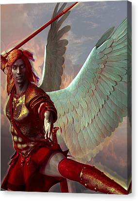 Saint Gabriel The Archangel Canvas Print by Suzanne Silvir