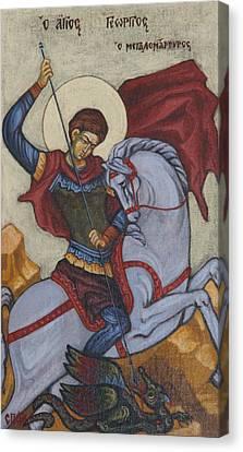 Saint George Agios Georgios Canvas Print by Sonya Grigorova