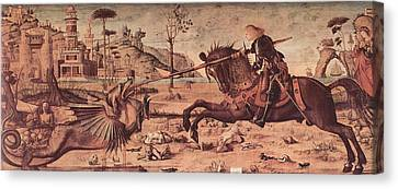 Saint George And The Dragon Canvas Print by Vittore Carpaccio