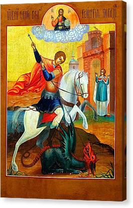Saint George Canvas Print by Munir Alawi