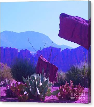 Canvas Print featuring the photograph Saint George Rocks by Ann Johndro-Collins