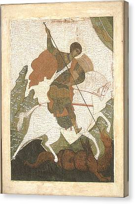 Russian Icon Canvas Print - Saint George by Russian Painter