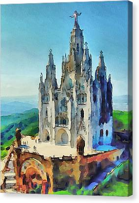 Saint Heart Cathedral Canvas Print by Yury Malkov