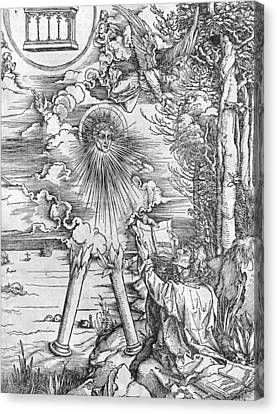 Saint John Canvas Print by Albrecht Durer or Duerer