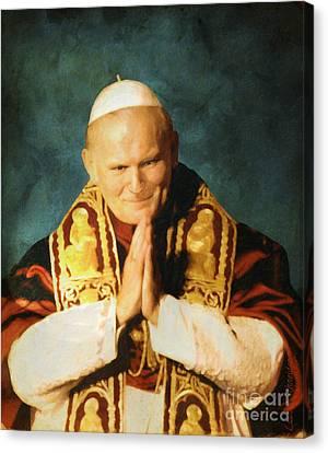 Saint John Paul II Canvas Print by Lianne Schneider