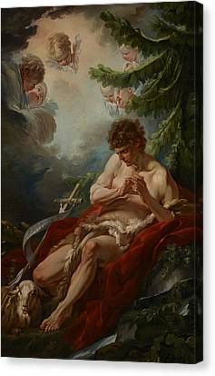 Saint John The Baptist Canvas Print by Francois Boucher