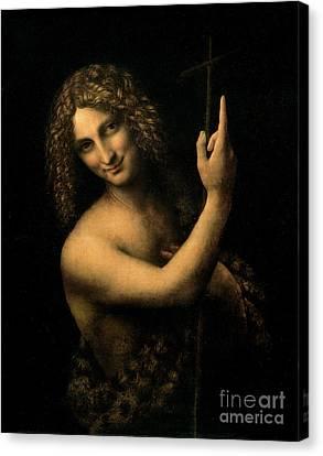 Saint John The Baptist Canvas Print by Leonardo da Vinci
