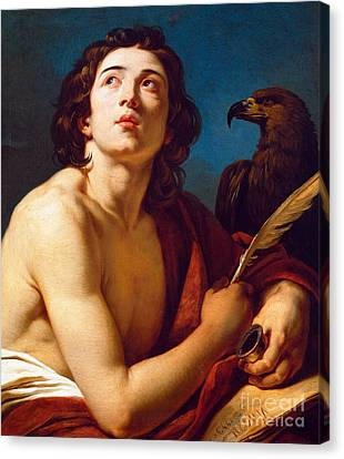 St John The Evangelist Canvas Print - Saint John The Evangelist by Francois Andre Vincent
