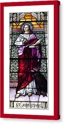Saint John The Evangelist Stained Glass Window Canvas Print by Rose Santuci-Sofranko