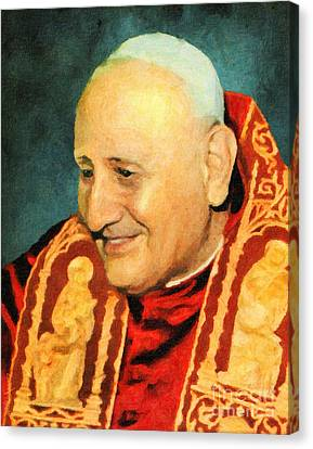 Saint John Xxiii Canvas Print by Lianne Schneider