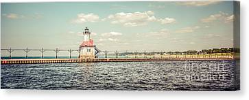 Saint Joseph Lighthouse Retro Panorama Photo Canvas Print