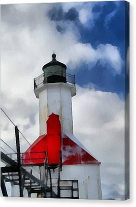 Saint Joseph Michigan Lighthouse Canvas Print by Dan Sproul
