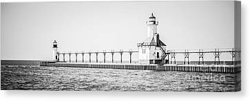 Saint Joseph Michigan Lighthouse Panoramic Photo Canvas Print