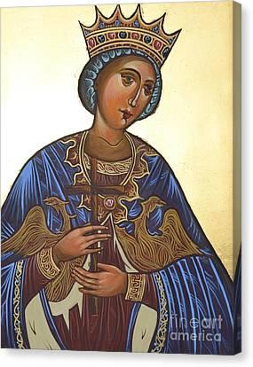 Saint Kateryna Icon Canvas Print by Kateryna Kurylo