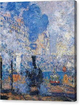 Saint Lazare Station Canvas Print by Claude Monet