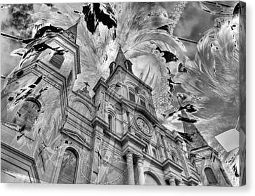 Canvas Print featuring the photograph Saint Louis Cathedral And Spirits by Ron White