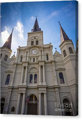 Saint Louis Cathedral Entrance Canvas Print by Inge Johnsson