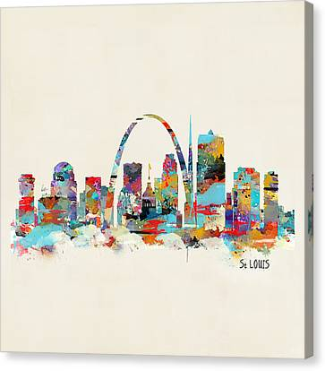 Saint Louis Canvas Print - Saint Louis Missouri Skyline by Bleu Bri