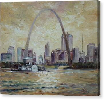 Saint Louis Skyline Canvas Print by Irek Szelag