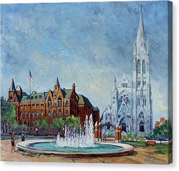 Saint Louis University And College Church Canvas Print by Irek Szelag