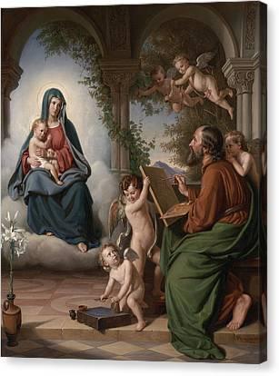Saint Luke Canvas Print by Theobald Reinhold Freiherr von Oer