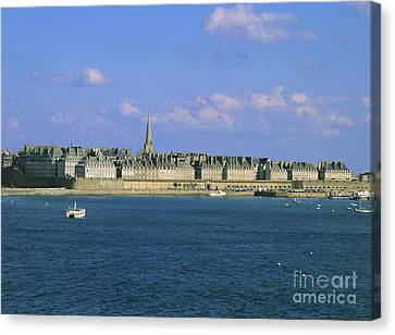 Saint Malo. Ille Et Vilaine. Brittany. Bretagne. France. Europe Canvas Print by Bernard Jaubert