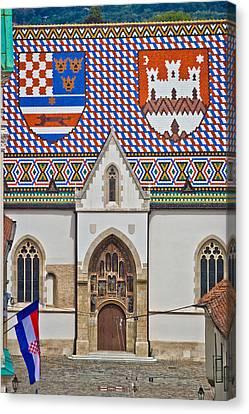 Saint Mark Church Facade Vertical View Canvas Print